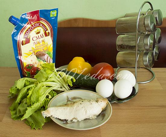 рецепты салатов с курицей и листьями салата