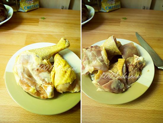 Курица с картофелем в рукаве, пошаговый рецепт с фото