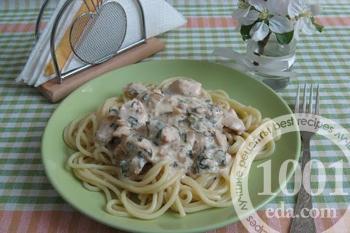 как приготовить сметанный соус к спагетти