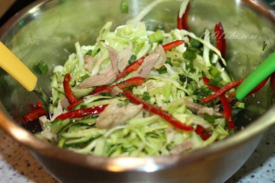 рецепт салата из свежего салата