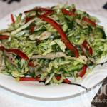 Свежий салат из молодой капусты с курицей: рецепт с пошаговым фото