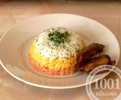 Трехцветный рис на гарнир