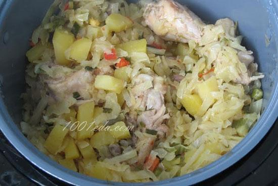 Курица с картошкой и капустой в мультиварке рецепты