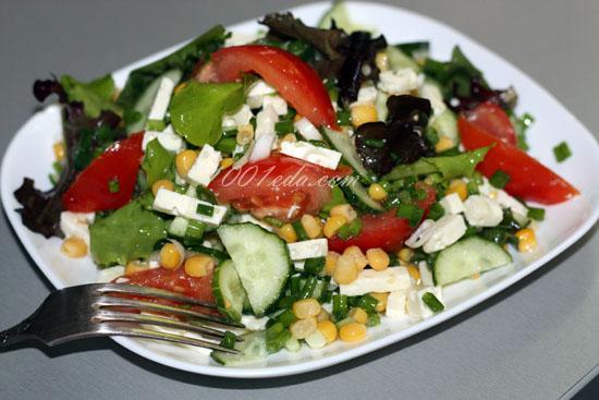 Салат брынза кукуруза