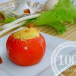 Яичный завтрак в помидорах: рецепт с пошаговым фото