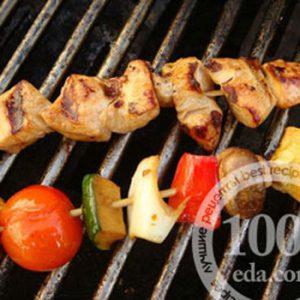 Куриный шиш-кебаб в медово-соевом маринаде
