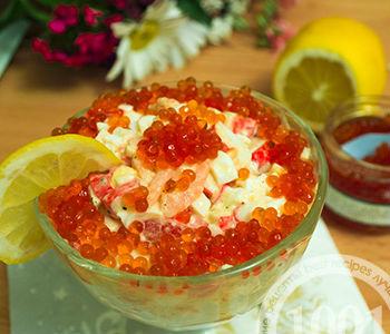 Салат Коралл с креветками и помидором: рецепт с пошаговым фото