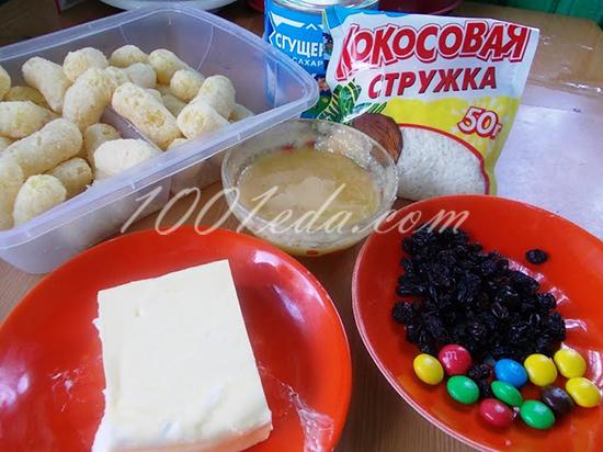 Печенье на вареных желтках с обсыпкой из кукурузных палочек, пошаговый рецепт с фото