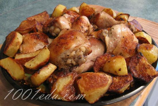 картошка с курицей жареная рецепт что