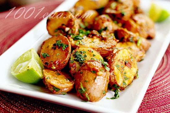 Картошка с шампиньонами в духовке постное блюдо