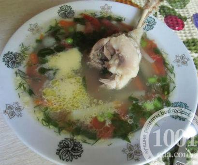 Суп с уткой, зеленым горошком и овощами: рецепт с пошаговым фото