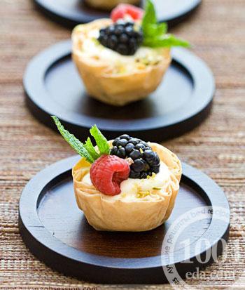 Восточное печенье из вытяжного теста – кулинарный рецепт