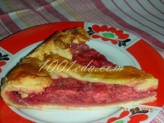 Торт из слоеного теста с клубникой рецепт