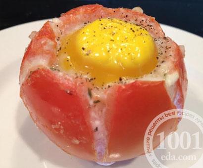 Помидоры, фаршированные яйцом и шпинатом