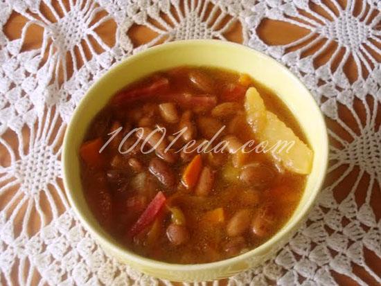 суп с белой фасолью и мясом рецепт с фото