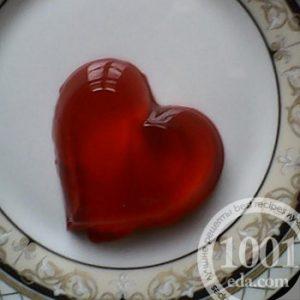 Пирожное без выпечки Сердце