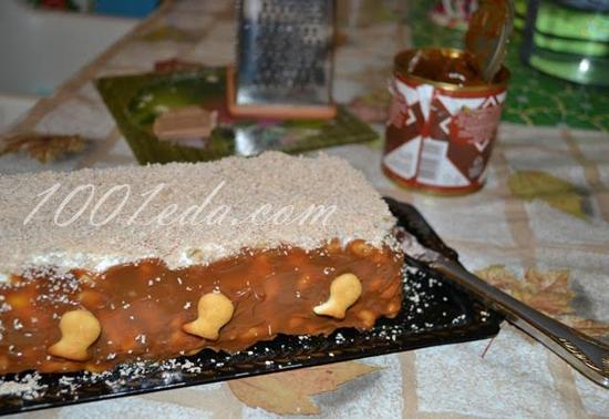 Торт из печенья без выпечки крекер