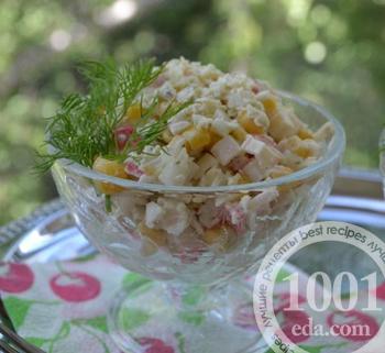 салаты из крабовых палочек с сыром и кукурузой рецепты