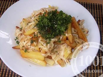Жареная картошка на масле