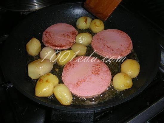 рецепт с фото картошка жареная с колбасой