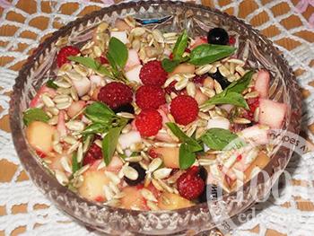 рецепт салат дыня с ветчиной
