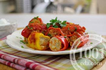 Перец фаршированный грецкими орехами