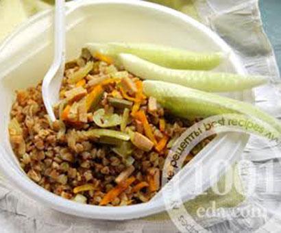 Гречневая каша с колбасой в мультиварке: рецепт с пошаговым фото
