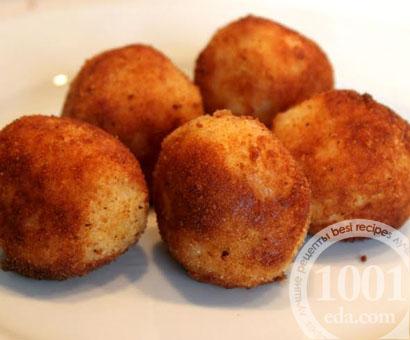 Шарики из рисовой каши с сыром: рецепт с пошаговым фото