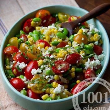 Летний овощной салат Суккоташ