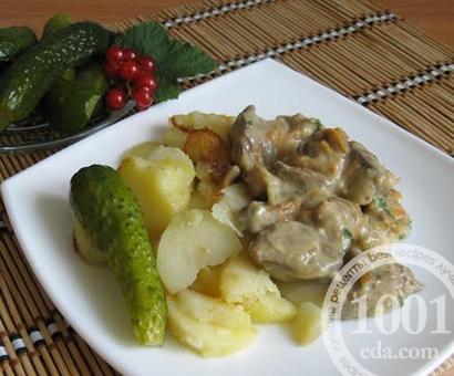 Куриная печень в сливочном соусе: рецепт с пошаговым фото