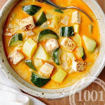 Кабачковый суп с тайскими мотивами