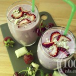 Молочный коктейль с клубникой и черешней: рецепт с пошаговым фото
