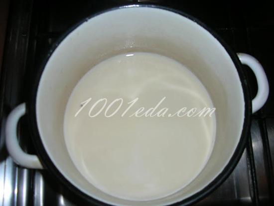 """Молочный коктель """"Медовый"""" – кулинарный рецепт"""