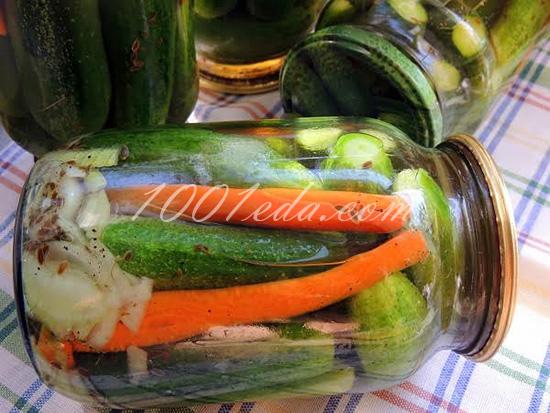 консервированные огурцы салат рецепт самые вкусные