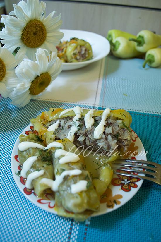 фаршированный перец рецепт в духовке со сметаной и