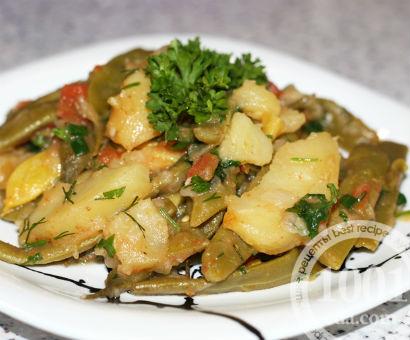 Тушеная стручковая фасоль с картофелем и овощами: рецепт с пошаговыми фото