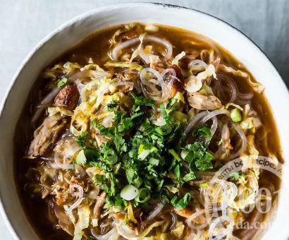 Пикантный суп-лапша со свининой