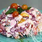 Салат из копченой грудки и рикотты: рецепт с пошаговым фото