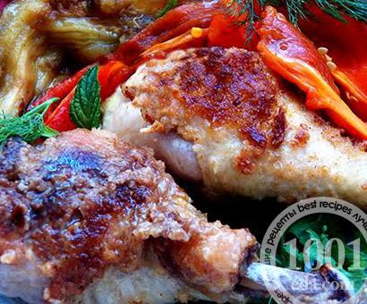 Запеченные куриные голени в сухарях: рецепт с пошаговым фото