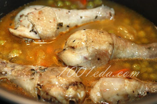 Куриные голени, фаршированные зеленым горошком и моцареллой, пошаговый рецепт с фото