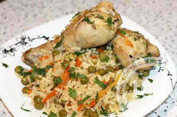 Рецепт салатов с рисом и курицей