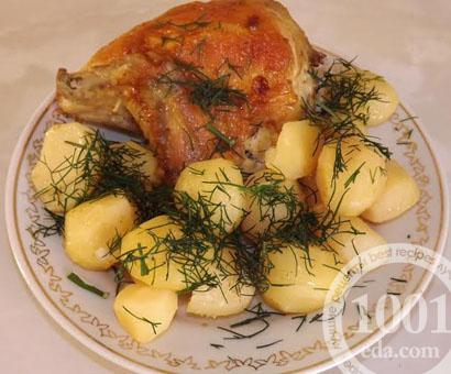 Курица запеченная в мультиварке с картофелем: рецепт с пошаговым фото