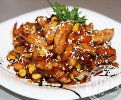 Куриная грудка в соевом соусе с кукурузой: рецепт с пошаговым фото