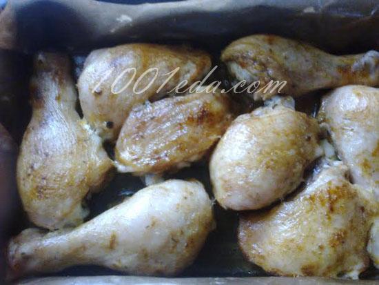 Запеченные куриные ножки, маринованные в чайном маринаде, пошаговый рецепт с фото