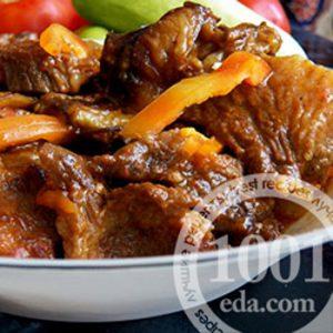 Баранина тушеная с жареными баклажанами: рецепт с пошаговыми фото