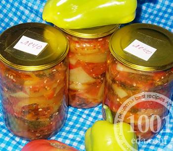 Макароны с сырным соусом и лечо  фото рецепт кулинарного