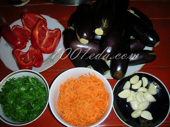 Соленые баклажаны с чесноком • Кабачки, баклажаны, патиссоны и т п