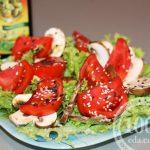 Салат с грибами жареными подсолнух картинки