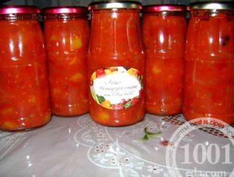 Лечо из сладкого перца и помидоров
