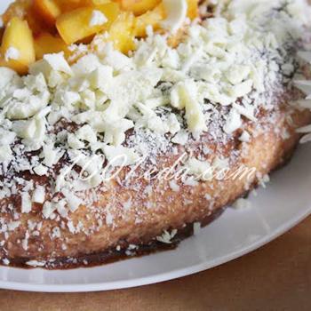 Персиковый торт с йогуртовым кремом